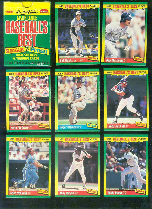 1988 Fleer Sluggers Pitchers Factory Boxed Set 44 Cards