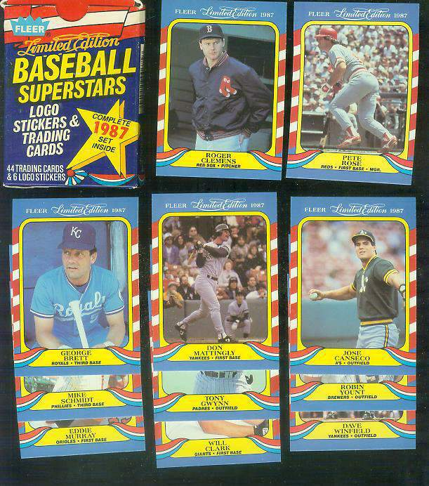 1987 Fleer 'LIMITED EDITION' - FACTORY BOXED SET (44 cards) Baseball cards value