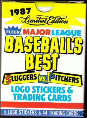 1987 Fleer 'SLUGGERS/PITCHERS' - FACTORY BOXED SET (44 cards) Baseball cards value
