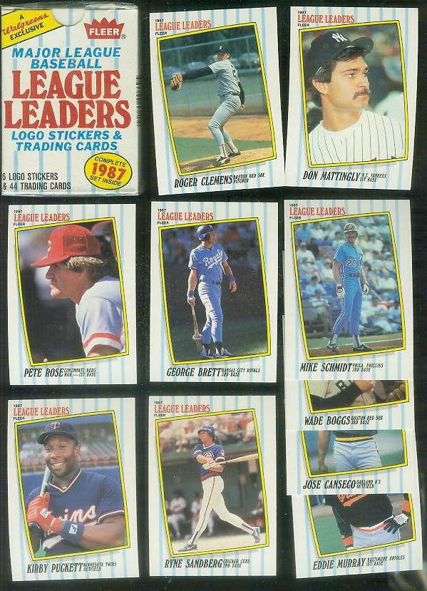 1987 Fleer 'LEAGUE LEADERS' - FACTORY BOXED SET (44 cards) Baseball cards value