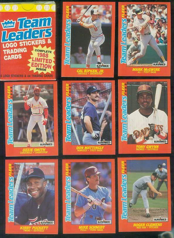 Kaybee 1988 Fleer Team Leaders Factory Boxed Set 44