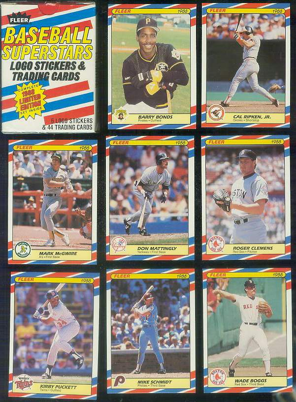 1988 Fleer 'SUPERSTARS' - FACTORY BOXED SET (44 cards) Baseball cards value
