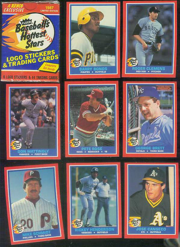 1987 Fleer 'HOTTEST STARS' - COMPLETE SET (44 cards) Baseball cards value