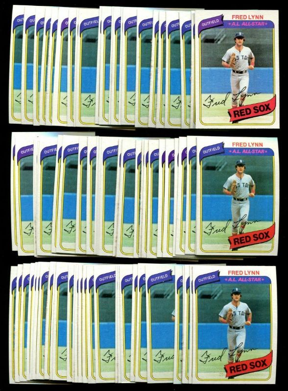 1980 Topps #110 Fred Lynn - Lot of (500) cards (Red Sox) Baseball cards value