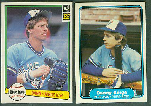1982 Donruss & Fleer - DANNY AINGE -  Lot of (2) diff. 2nd year cards Basketball cards value