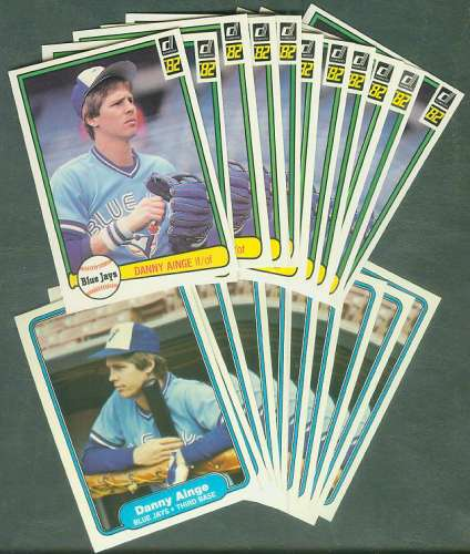 1982 Donruss & Fleer - DANNY AINGE - (25) Lots of (2) diff. 2nd year cards Basketball cards value
