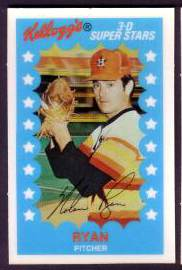 1982 Kellogg's #11 Nolan Ryan Baseball cards value