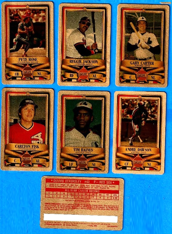 1982 Perma-Graphic All-Stars GOLD - Partial Set lot (11) w/HALL-OF-FAMERS Baseball cards value