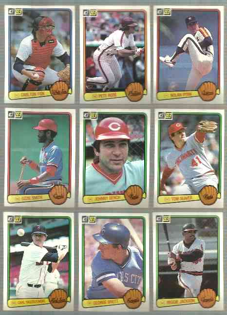 1983 Donruss Bulk Lot Of 1000 With 50 In Hall Of Famers