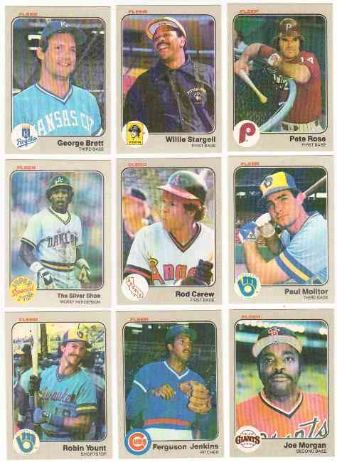 1983 Fleer Bulk Lot Of 1000 With 50 In Hall Of Famers