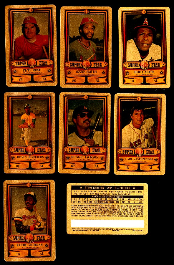 1983 Perma-Graphic GOLD  - Partial Set lot of (15) with HALL-OF-FAMERS Baseball cards value