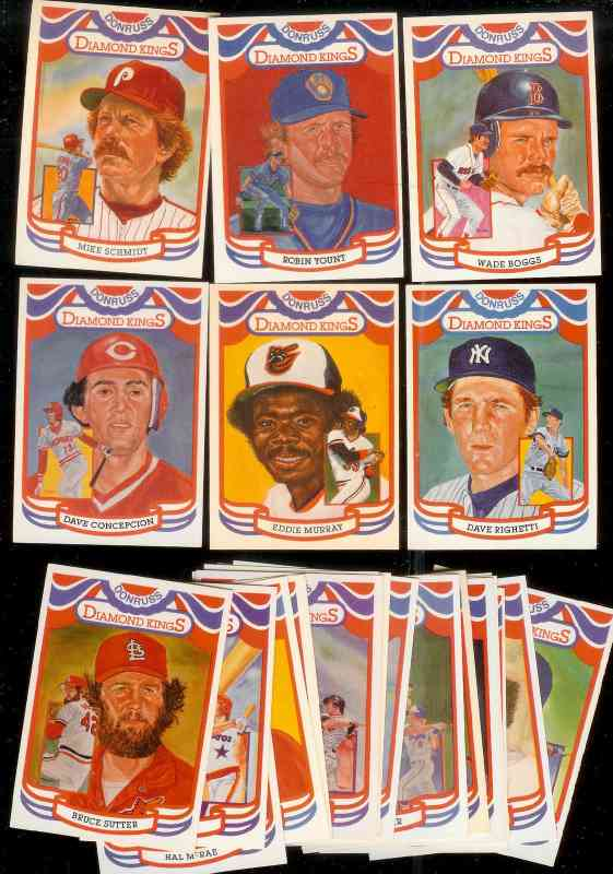 1984 Donruss -  DIAMOND KINGS Complete Subset (#1-26 + chklst) Baseball cards value