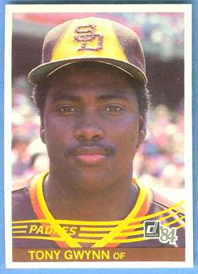 1984 Donruss #324 Tony Gwynn (2nd year card) (Padres) Baseball cards value