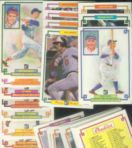 1984 Donruss Champions Baseball Cards Set Checklist Prices Values