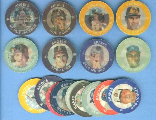 1984 Slurpee/7-11 #W Coins WEST/'K' COMPLETE SET (24) Baseball cards value