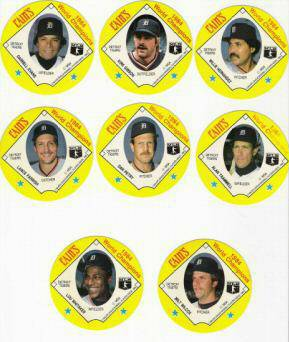 1985 Detroit TIGERS CAIN'S Discs - COMPLETE SET (20 discs) Baseball cards value