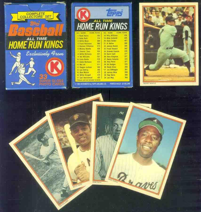 1985 Circle K 'HOME RUN KINGS' - FACTORY BOXED SET (33 cards,#1-#34) Baseball cards value