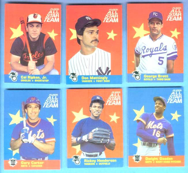 1986 Fleer All-Star #.5 Cal Ripken Baseball cards value