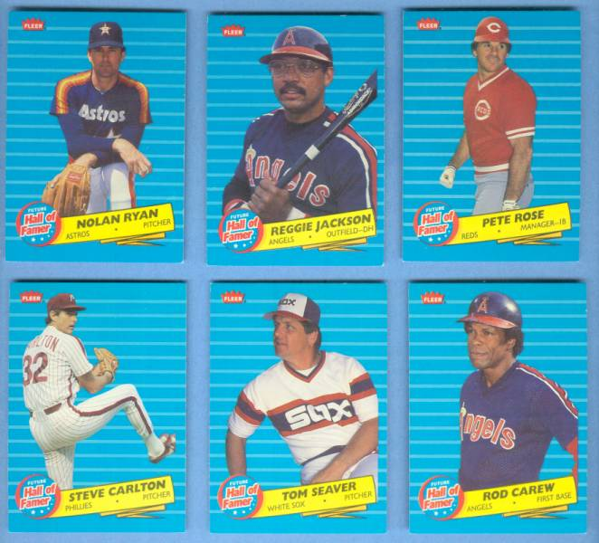 1986 Fleer FUTURE HALL-of-FAMER #6 Reggie Jackson Baseball cards value