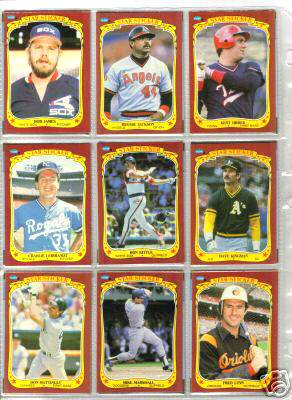 1986 Fleer Stickers - COMPLETE SET (132 cards) Baseball cards value