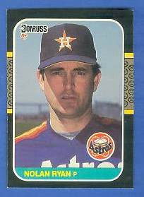 1987 Donruss #138 Nolan Ryan Baseball cards value