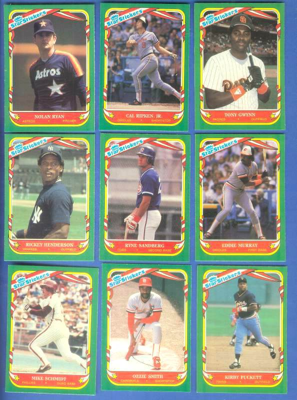 1987 Fleer Star Sticker #.52 Tony Gwynn Baseball cards value