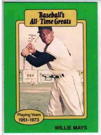 1987 Hygrade All Time Greats Baseball Cards Set Checklist