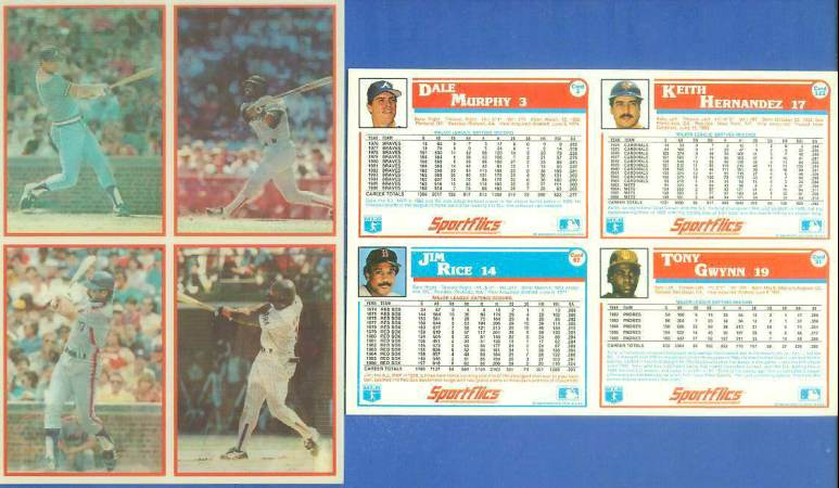 1987 Sportflics DEALER PANELS #3 Tony Gwynn/Dale Murphy/Keith Hernandez Baseball cards value