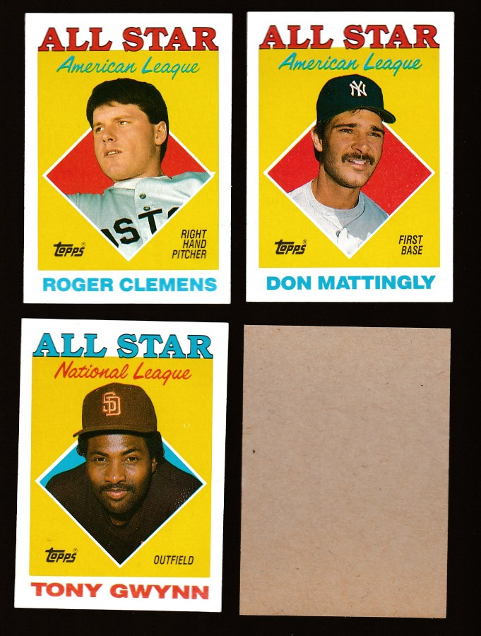 1988 Topps - Don Mattingly All-Star BLANK-BACK PROOF (Yankees) Baseball cards value