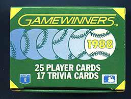 1988 Sportflics GAMEWINNERS - COMPLETE 25 card Boxed Factory Set Baseball cards value