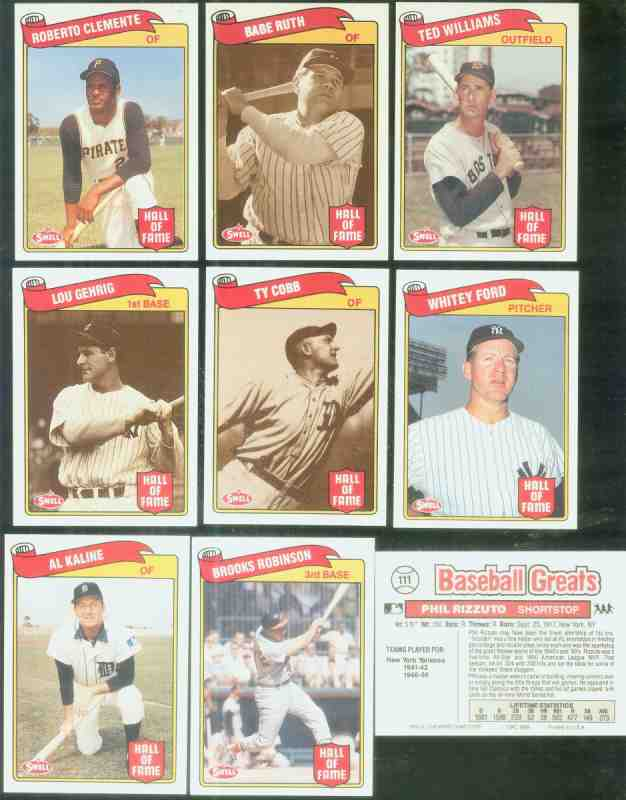 1989 Swell BASEBALL GREATS - Complete 135-card SET Baseball cards value