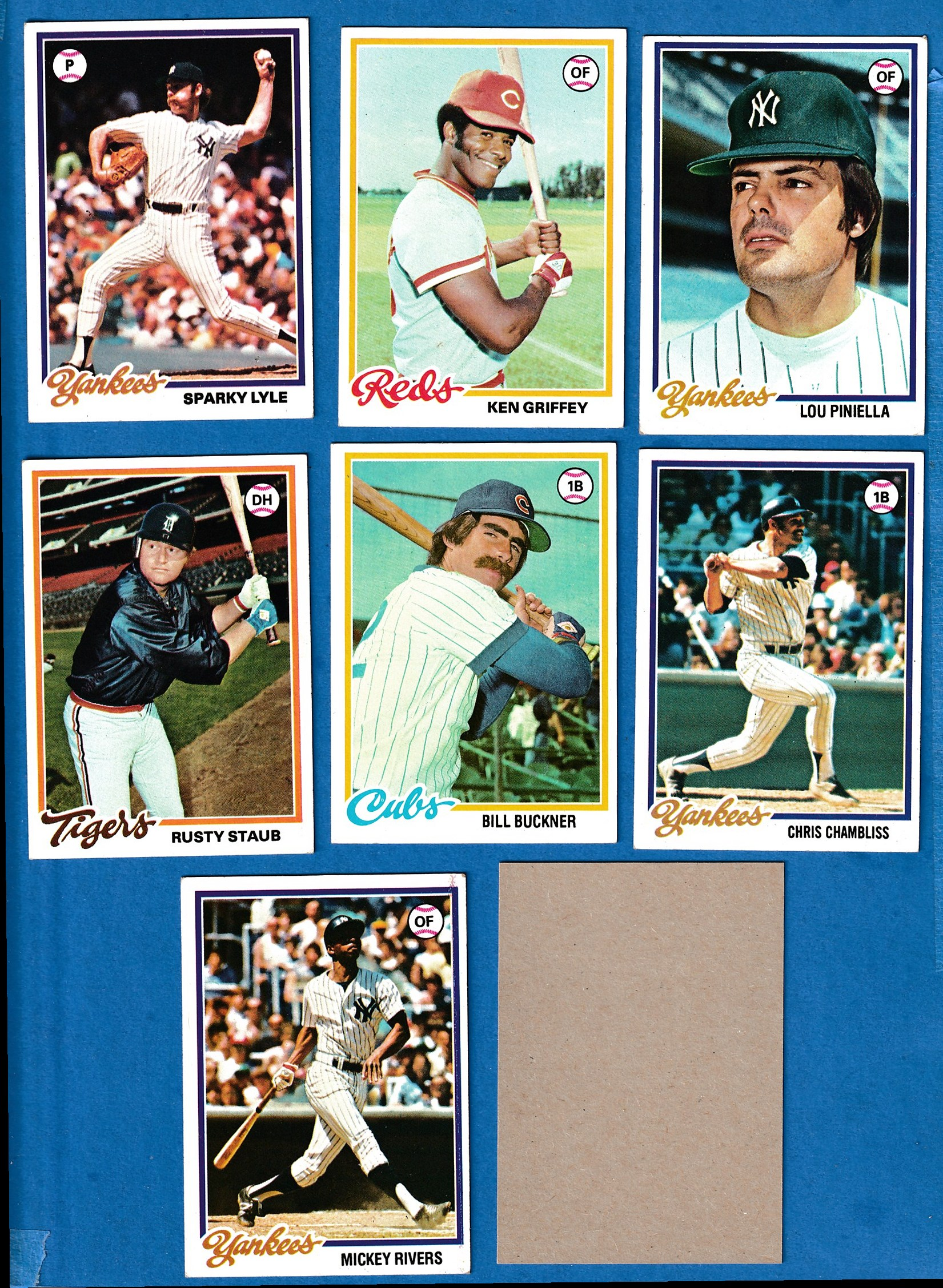 1978 Topps BLANK-BACK PROOF #473 Bill Buckner (Cubs) Baseball cards value