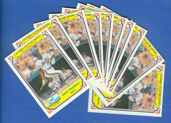 1984 Drake's/Topps #29 Darryl Strawberry ROOKIE - Lot of (25) (Mets) Baseball cards value