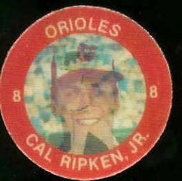 1984 Slurpee/7-11 #E14 Cal Ripken - Lot of (10) coins [H] (Orioles) Baseball cards value
