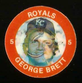 1984 Slurpee/7-11 #E.5 George Brett - Lot of (10) coins [H] (Royals) Baseball cards value