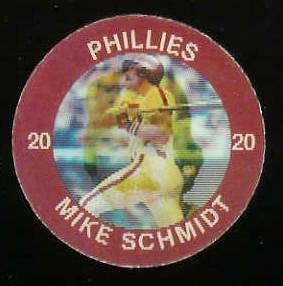 1984 Slurpee/7-11 #E.4 Mike Schmidt - Lot of (10) coins [H] (Phillies) Baseball cards value