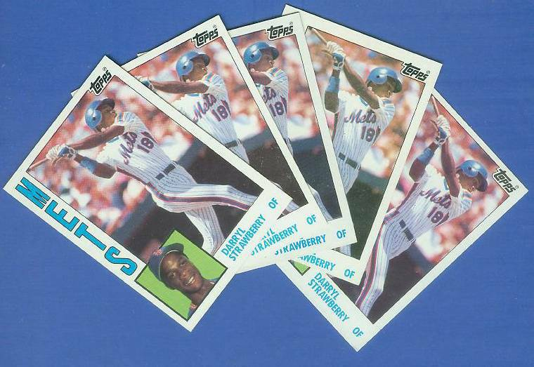 Darryl Strawberry - 1984 Topps #182 ROOKIE - Lot of (5) (Mets) Baseball cards value