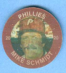 1985 Slurpee/7-11 #W.1 Mike Schmidt  - Lot of (10) coins [DH] (Phillies) Baseball cards value