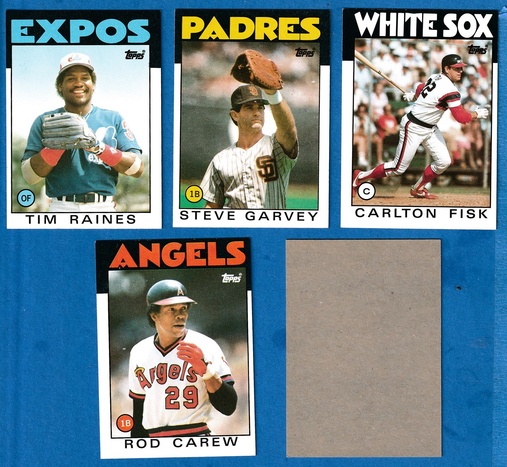 1986 Topps BLANK-BACK PROOF #400 Rod Carew (Angels) Baseball cards value