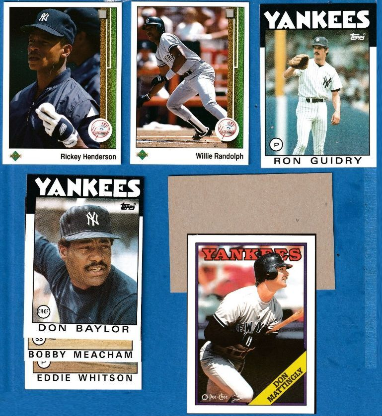 1986 Topps BLANK-BACK PROOF  - Yankees Team Lot of (5) Baseball cards value