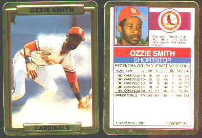 Ozzie Smith - 1988 Action Packed TEST/PROMO SHORT PRINT (Cardinals) Baseball cards value