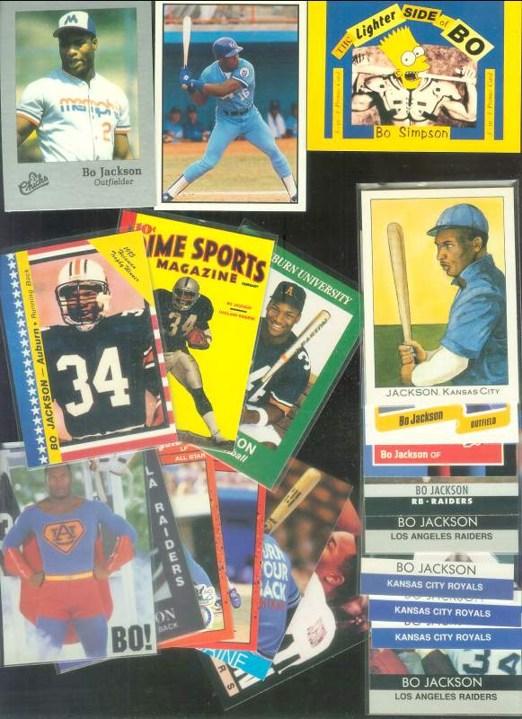 Bo Jackson - Lot of (21) different Baseball cards value