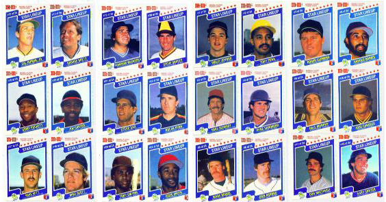 1987 M&Ms - (10) COMPLETE SETS (24 cards in 12 Complete panels per set) Baseball cards value