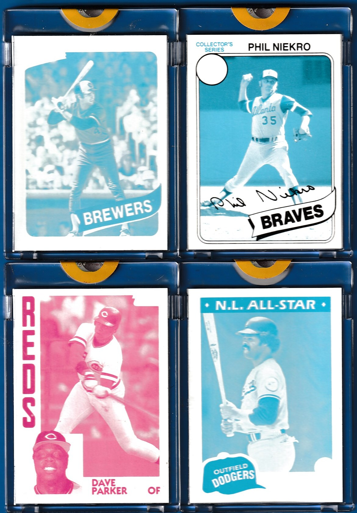 1980 Topps #xxx Paul Molitor TOPPS VAULT Cyan PROOF (Brewers) Baseball cards value