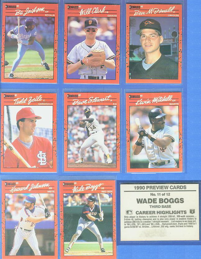 Kevin Mitchell - 1990 Donruss PREVIEW #.6 (Giants) Baseball cards value