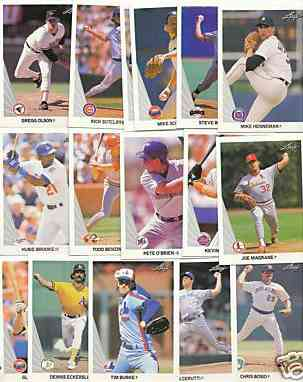 1990 Leaf - STARTER SET Lot (415) Diff. $50+ value in just 22 listed stars Baseball cards value