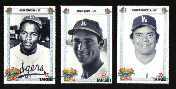 1990 Target Dodgers #.676 Jackie Robinson [#g49] Baseball cards value
