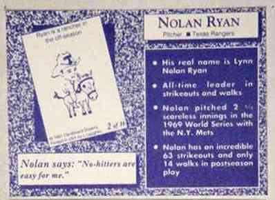 1991 Cardboard Dreams Ryan back