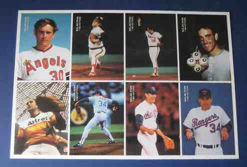 Nolan Ryan - 1992 Mother's Cookies '7 No-Hitters' COMPLETE SET UNCUT SHEET Baseball cards value
