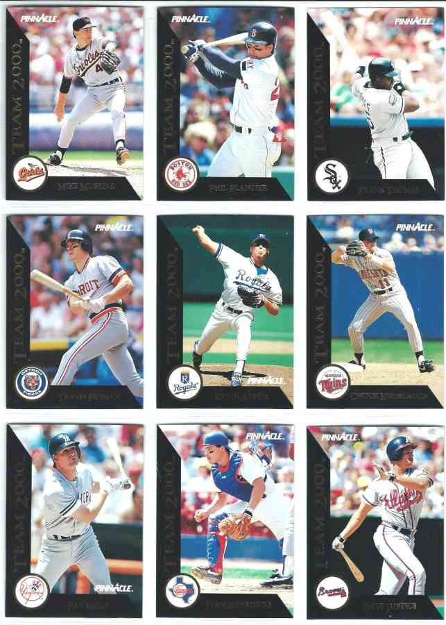 1992 Pinnacle TEAM 2000 - COMPLETE SET (80 cards) Baseball cards value